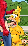 Spider-Man drills the laziest fat-ass toon fuckers