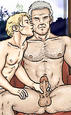 Adult Gay Comics Boy and Man first time sex