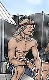Gay hunk waiting at truck stop