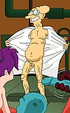 Famous Futurama heroes participate in crazy sex or