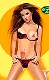 Megga sexy tranny toon girl poses