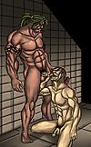 Gay prison muscle man sex cartoon