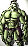 The incredible gay hulk has a huge gay penis dont