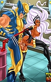 Well-hung doms from X-Men porn team trying to brea