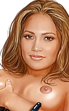 Bootylicious cutie Jennifer Lopez and her fuzzy pi