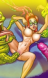 Hot Janine pleasures horny Ghostbusters and Slimer